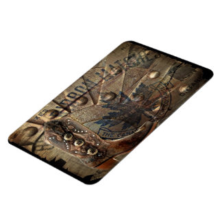 Steampunk gear western country cowboy boot magnet