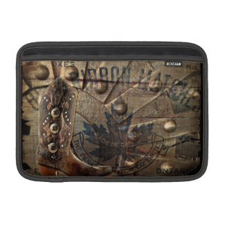 Steampunk gear western country cowboy boot sleeve for MacBook air