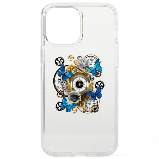 Steampunk Gears and Blue Butterflies Speck iPhone 12 Pro Max Case