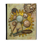 Steampunk Gears and Magnifying Glass iPad Folio Cases