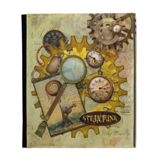 Steampunk Gears and Magnifying Glass iPad Case