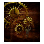 Steampunk Gears and Pipes Poster