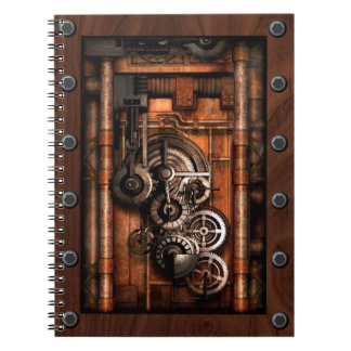 SteamPunk Gears and Rivets Note Book