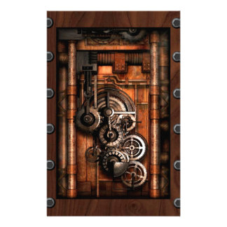 SteamPunk Gears and Rivets Stationery