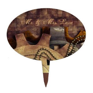 Steampunk Gears & Baubles Wedding Cake Topper