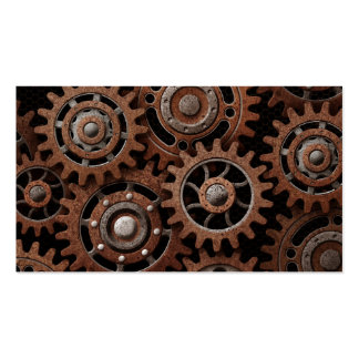 Steampunk Gears Double-Sided Standard Business Cards (Pack Of 100)