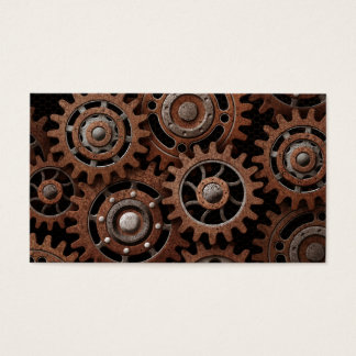 Steampunk Gears Business Card