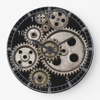 steampunk gears cogs engine metal machine clock