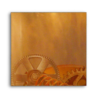steampunk gears cogs mechanics design envelope