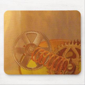 steampunk gears cogs mechanics design mouse pads