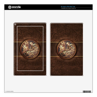 steampunk gears decals for kindle fire