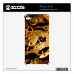 Steampunk Gears Decals For The iPhone 4