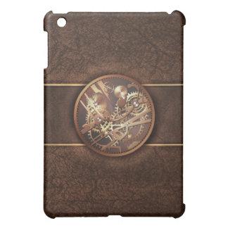 steampunk gears gold brown iPad mini cases