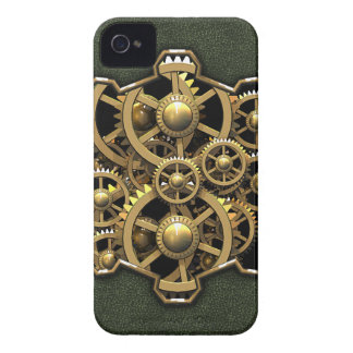 Steampunk Gears Green 1A iPhone 4 Covers