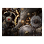 Steampunk - Gears - Horology Greeting Card