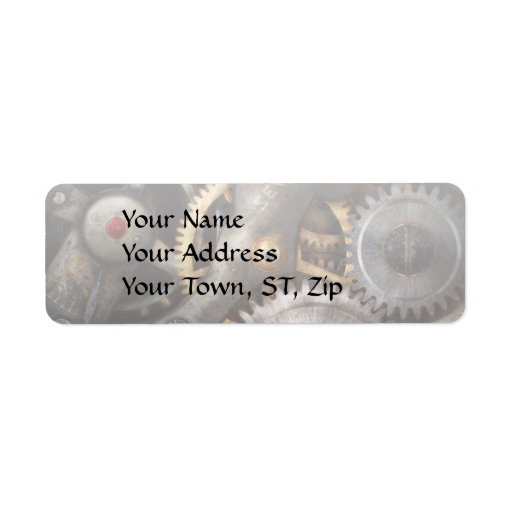 Steampunk - Gears - Horology Custom Return Address Labels