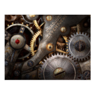 Steampunk - Gears - Horology Postcard