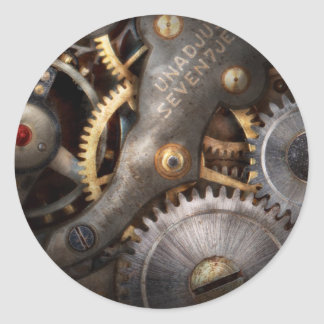 Steampunk - Gears - Horology Classic Round Sticker