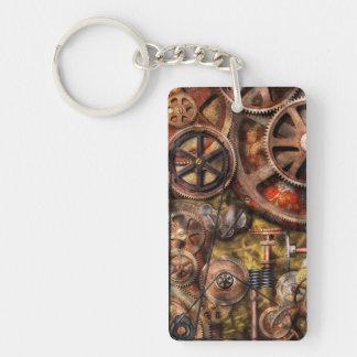 Steampunk - Gears - Inner Workings Double-Sided Rectangular Acrylic Keychain