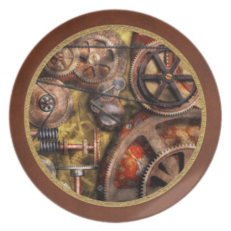 Steampunk - Gears - Inner Workings Party Plates