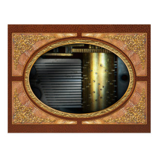 Steampunk - Gears - Music Machine Postcard