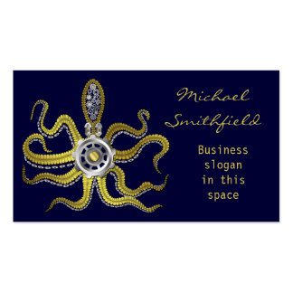 Steampunk Gears Octopus Kraken Business Card