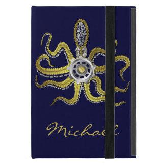 Steampunk Gears Octopus Kraken Covers For iPad Mini