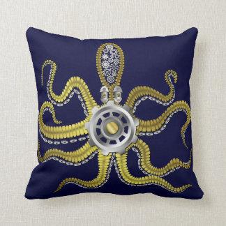 Steampunk Gears Octopus Kraken Pillows