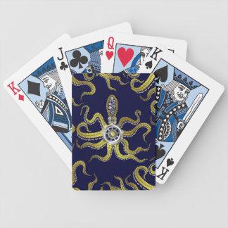Steampunk Gears Octopus Kraken Bicycle Poker Cards