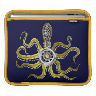 Steampunk Gears Octopus Kraken Sleeves For iPads