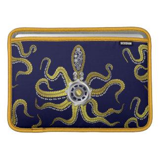 Steampunk Gears Octopus Kraken Sleeves For MacBook Air