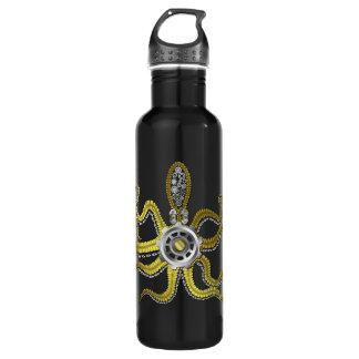 Steampunk Gears Octopus Kraken Stainless Steel Water Bottle