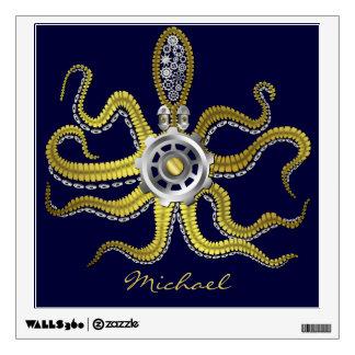 Steampunk Gears Octopus Kraken Wall Decor
