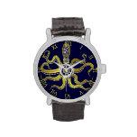 Steampunk Gears Octopus Kraken Wristwatch