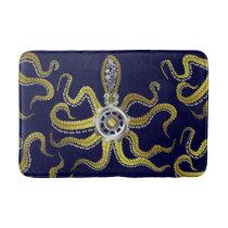 Steampunk Gears Octopus Metal Kraken Bathroom Mat