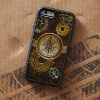 Steampunk Gears on Coppery-look Geometric Design Tough Xtreme iPhone 6 Case