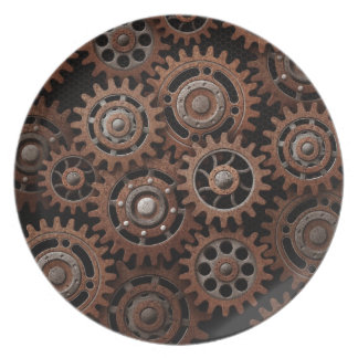Steampunk Gears Dinner Plate