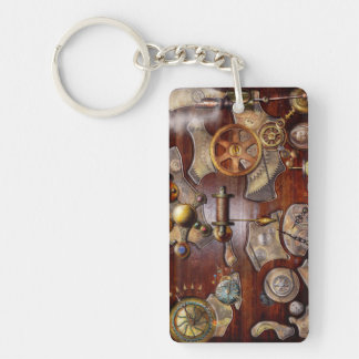 Steampunk - Gears - Reverse engineering Rectangular Acrylic Key Chain
