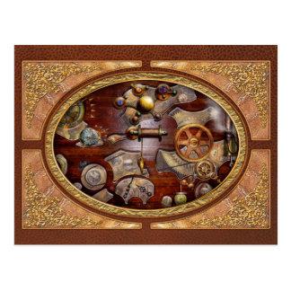 Steampunk - Gears - Reverse engineering Postcard