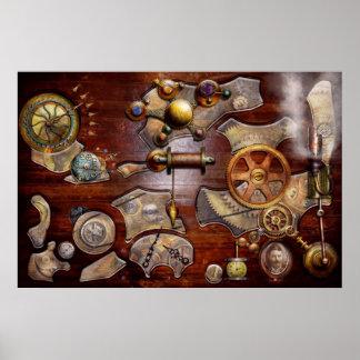 Steampunk - Gears - Reverse engineering Poster