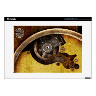 "Steampunk gears skins for 15"" laptops"