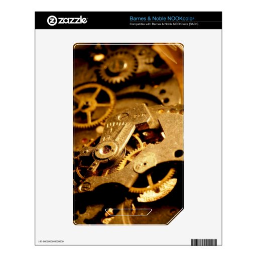Steampunk Gears Skins For NOOK Color