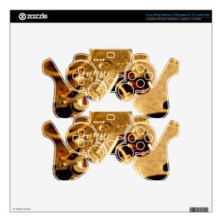 Steampunk Gears Skins For PS3 Controllers