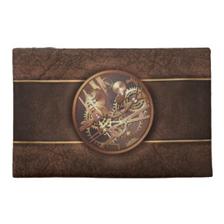 steampunk gears travel accessory bag