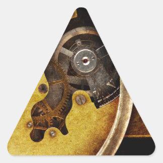 Steampunk gears triangle sticker
