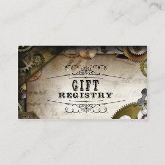 Steampunk Gears Victorian Wedding Registry Cards