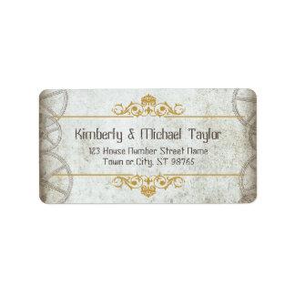 Steampunk Gears Wedding Address Label