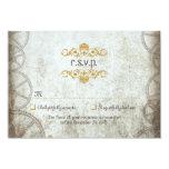 Steampunk Gears Wedding RSVP Card
