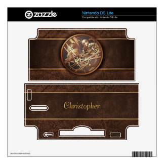 steampunk gears with changable name DS lite decal