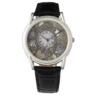 Steampunk, gecko divertido reloj